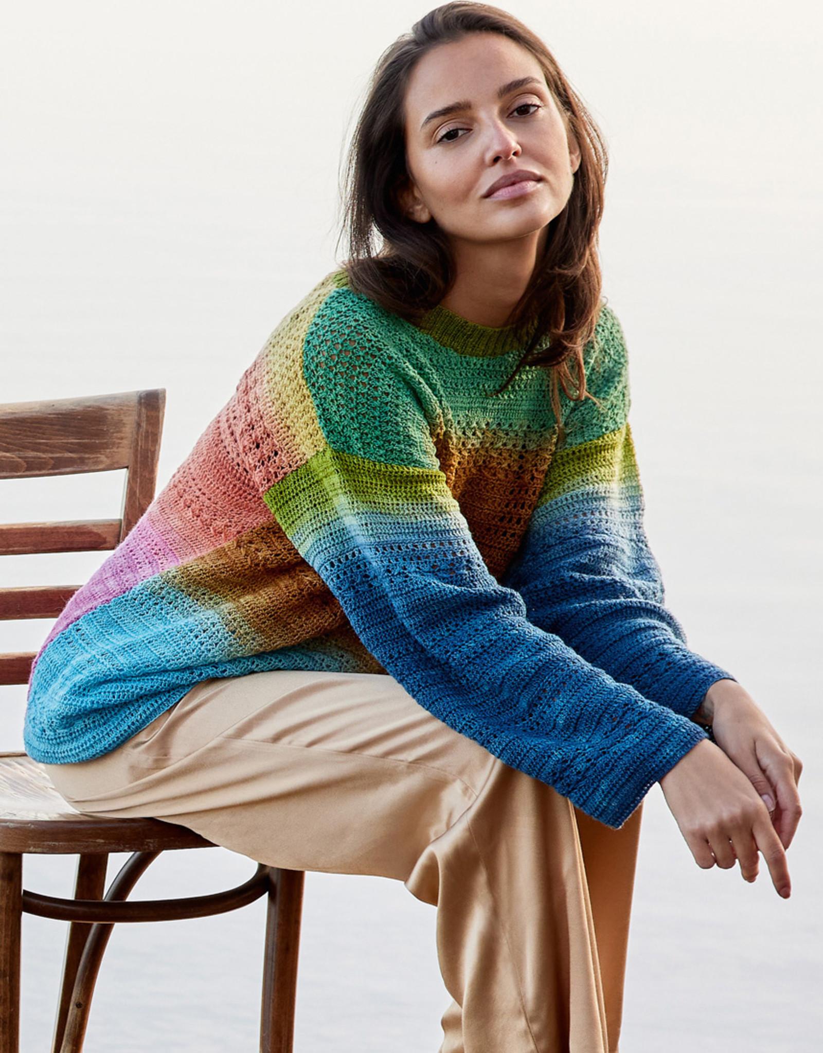 Lana Grossa Cool Wool Lace Hand-dyed trui in patronenmix