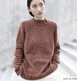 Katia Trui met perkins hals Cotton-Merino Tweed