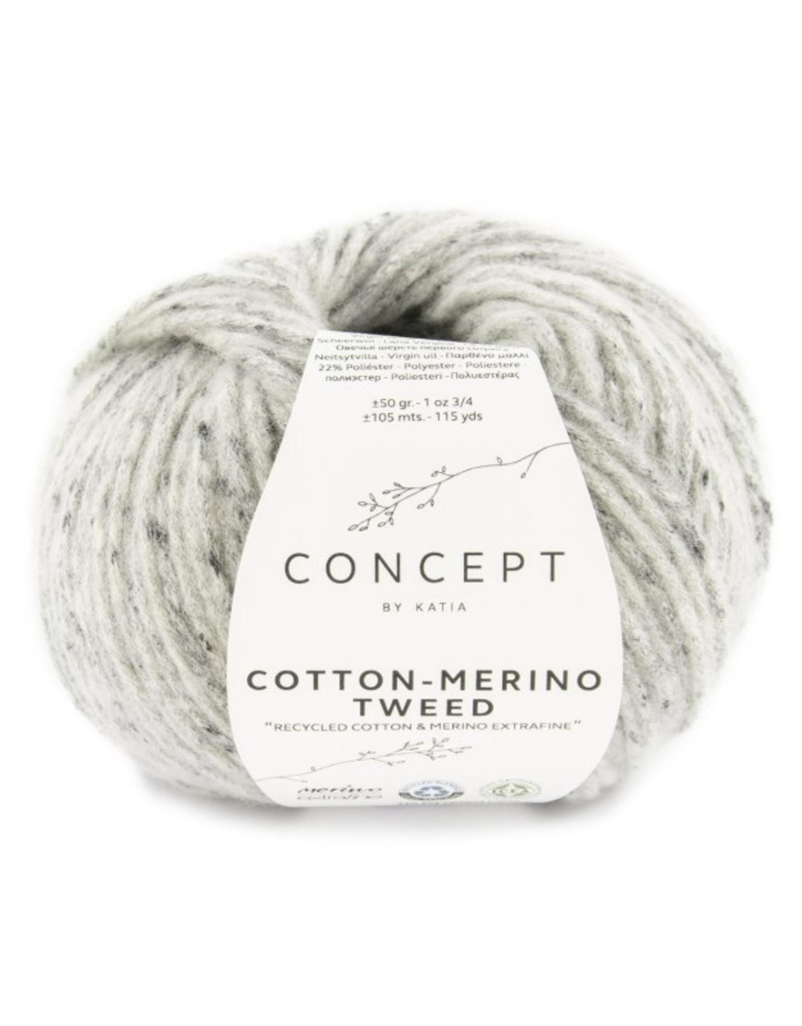 Katia Trui met Perkins -Hals Cotton-Merino Tweed