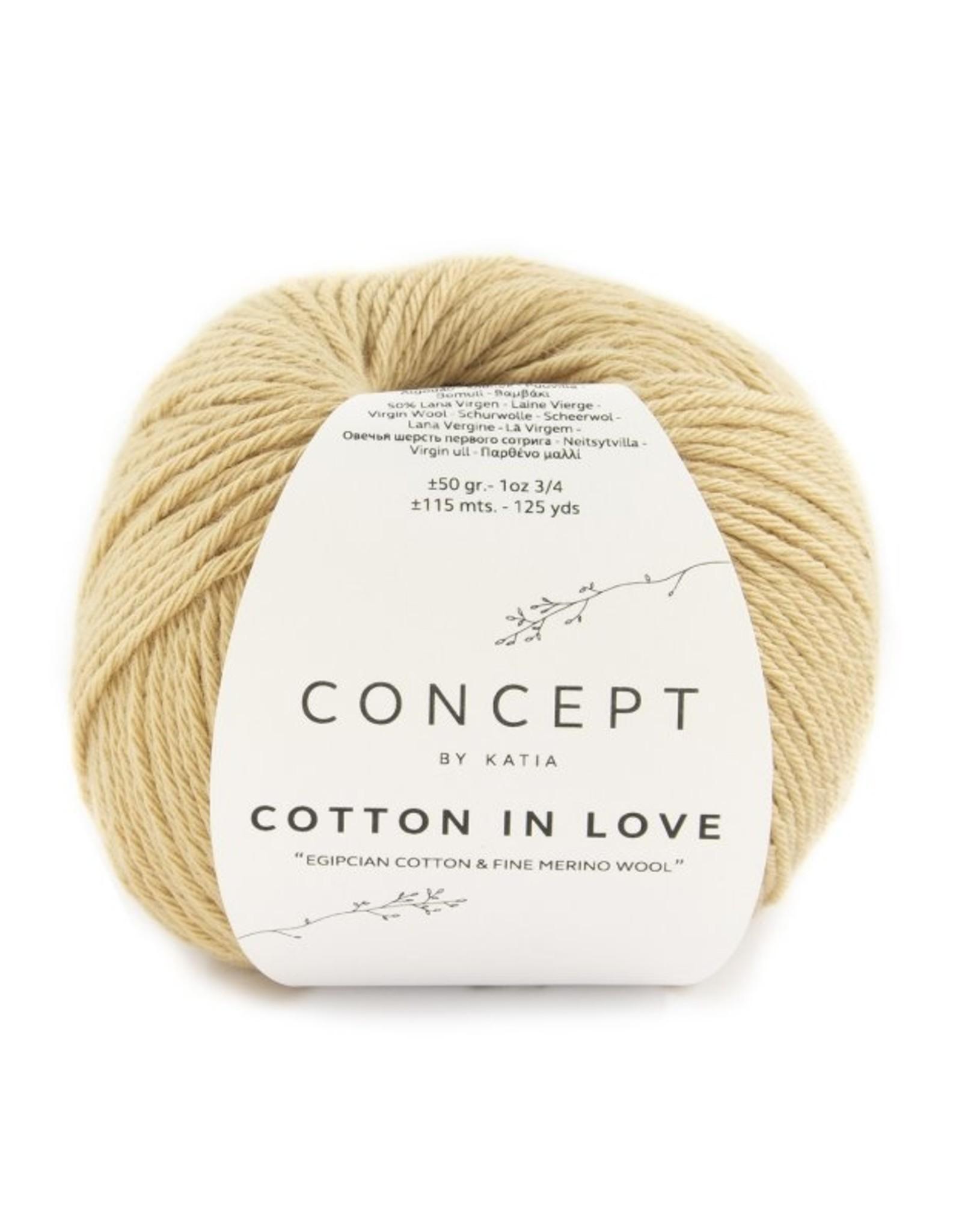 Katia Gebreid damesvest in rijstekorrel van Cotton in Love
