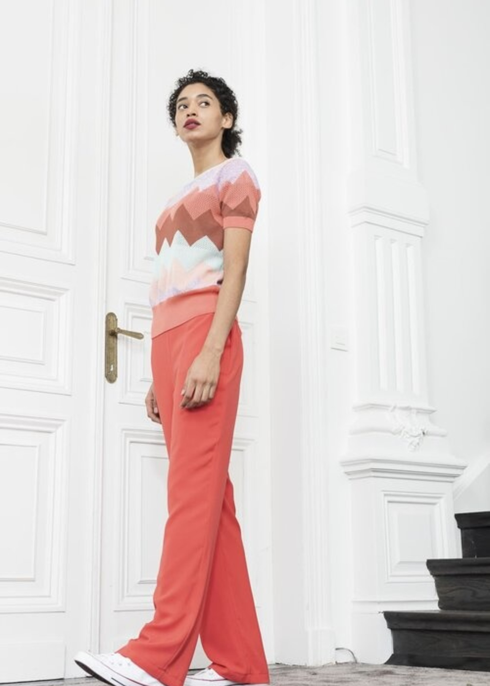 Dame Blanche Blouse comb caribe coral