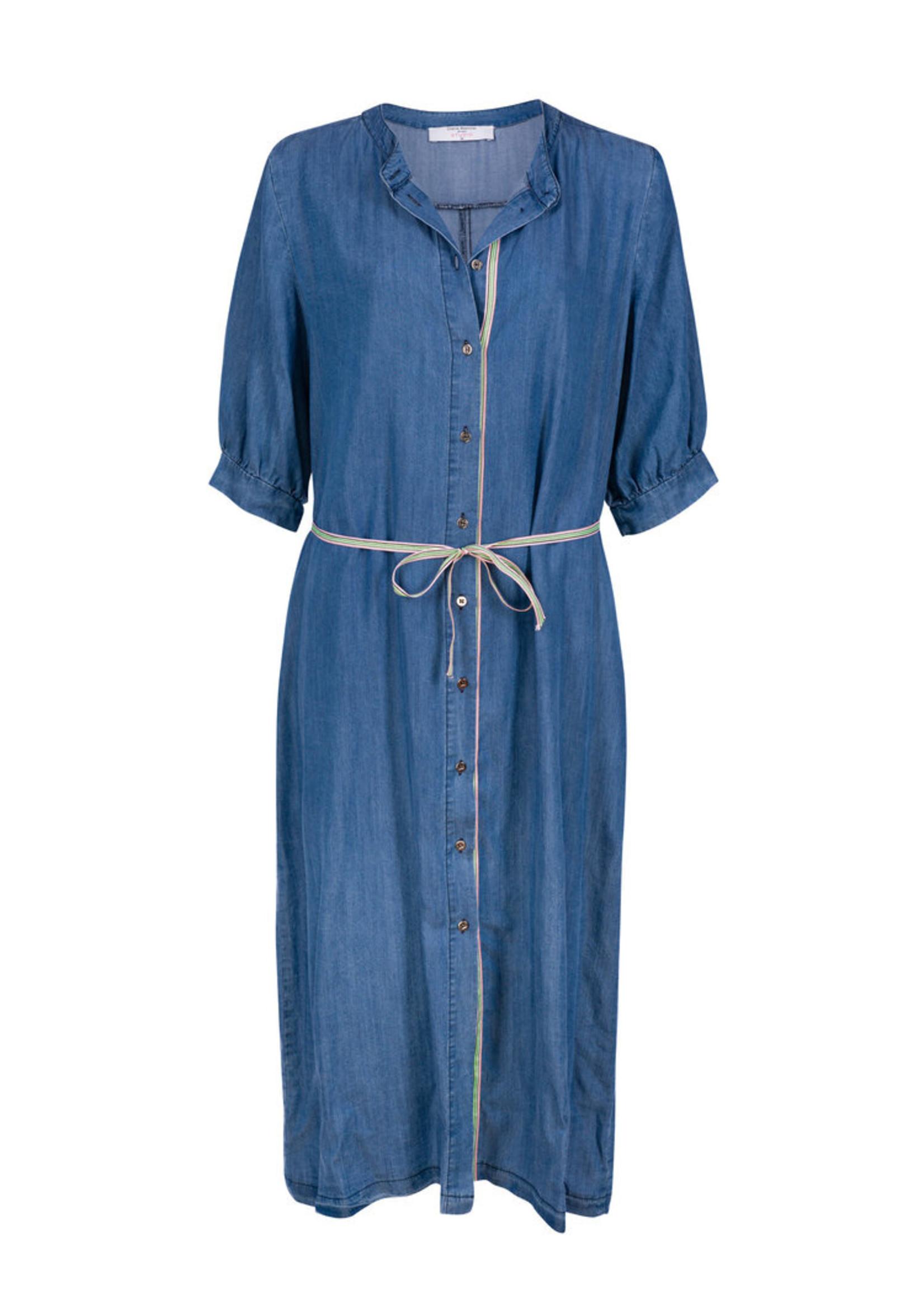 Dame Blanche Dress fano cel blue