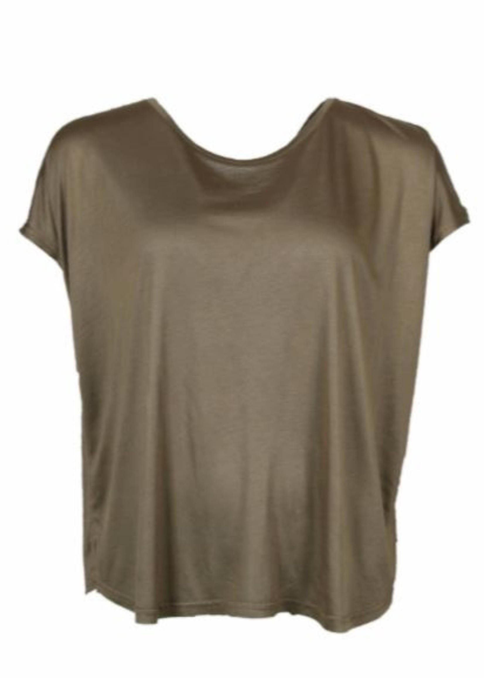 I Say T-shirt Nugga Viscose khaki