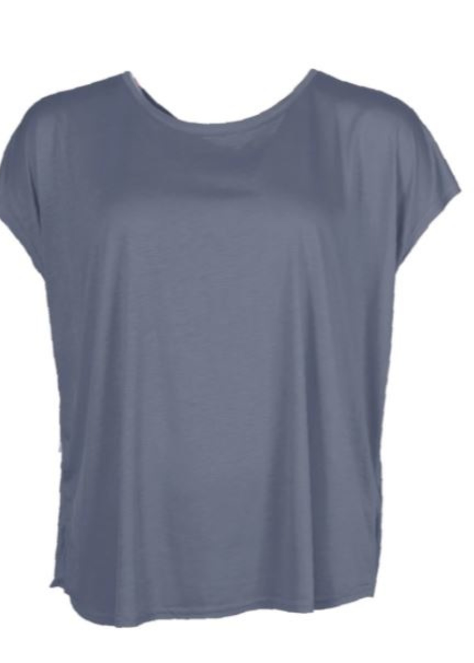I Say T-shirt Nugga viscose Soft Blue