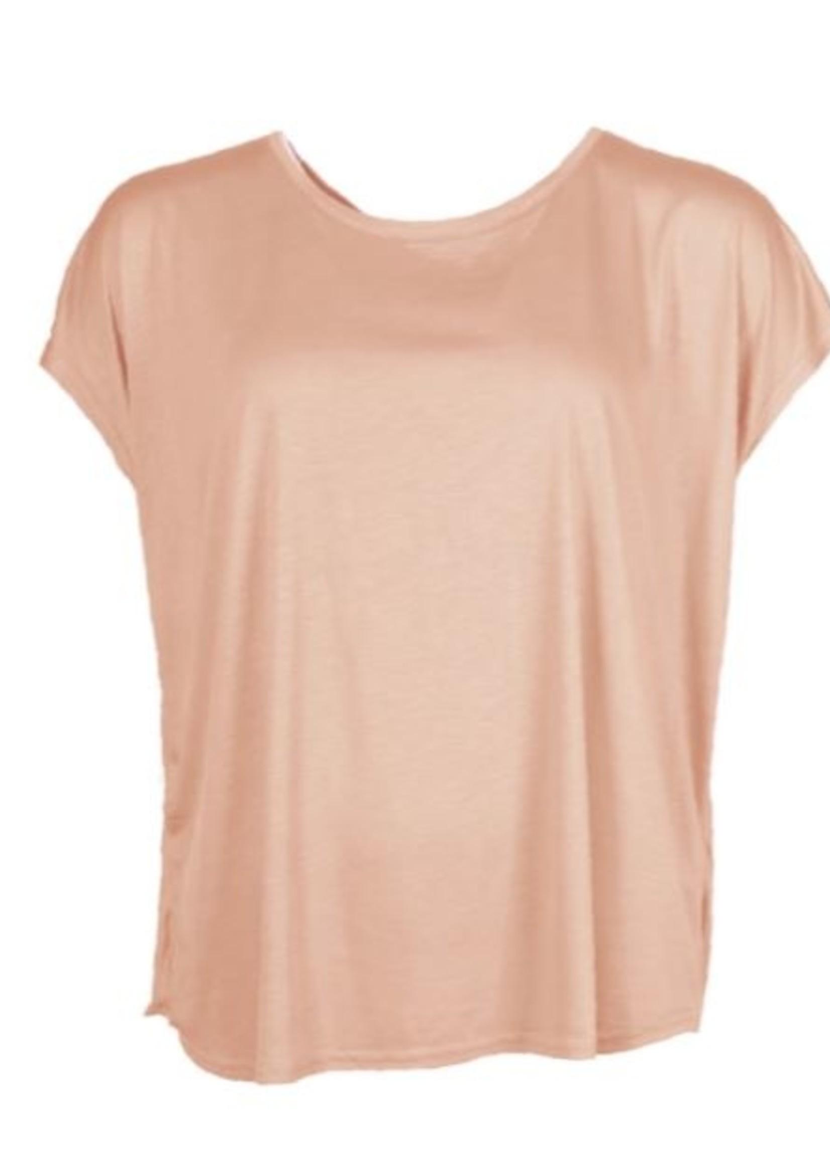 I Say Nugga viscose T-shirt Soft Rose