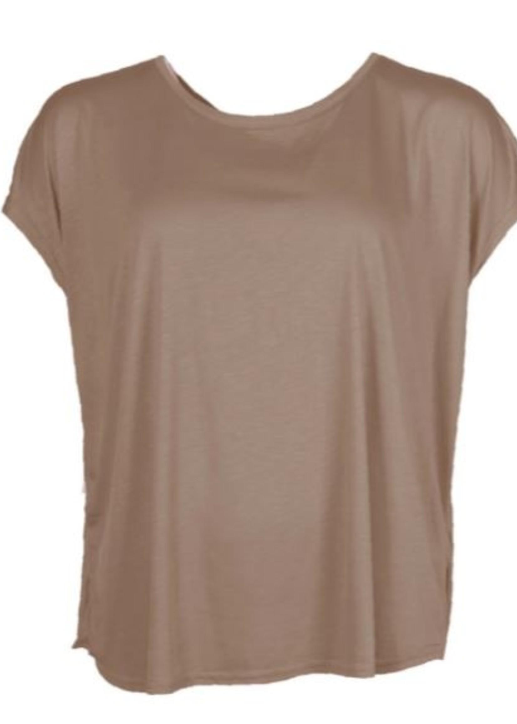 I Say Nugga viscose T-shirt Luxury Camel 21 spring