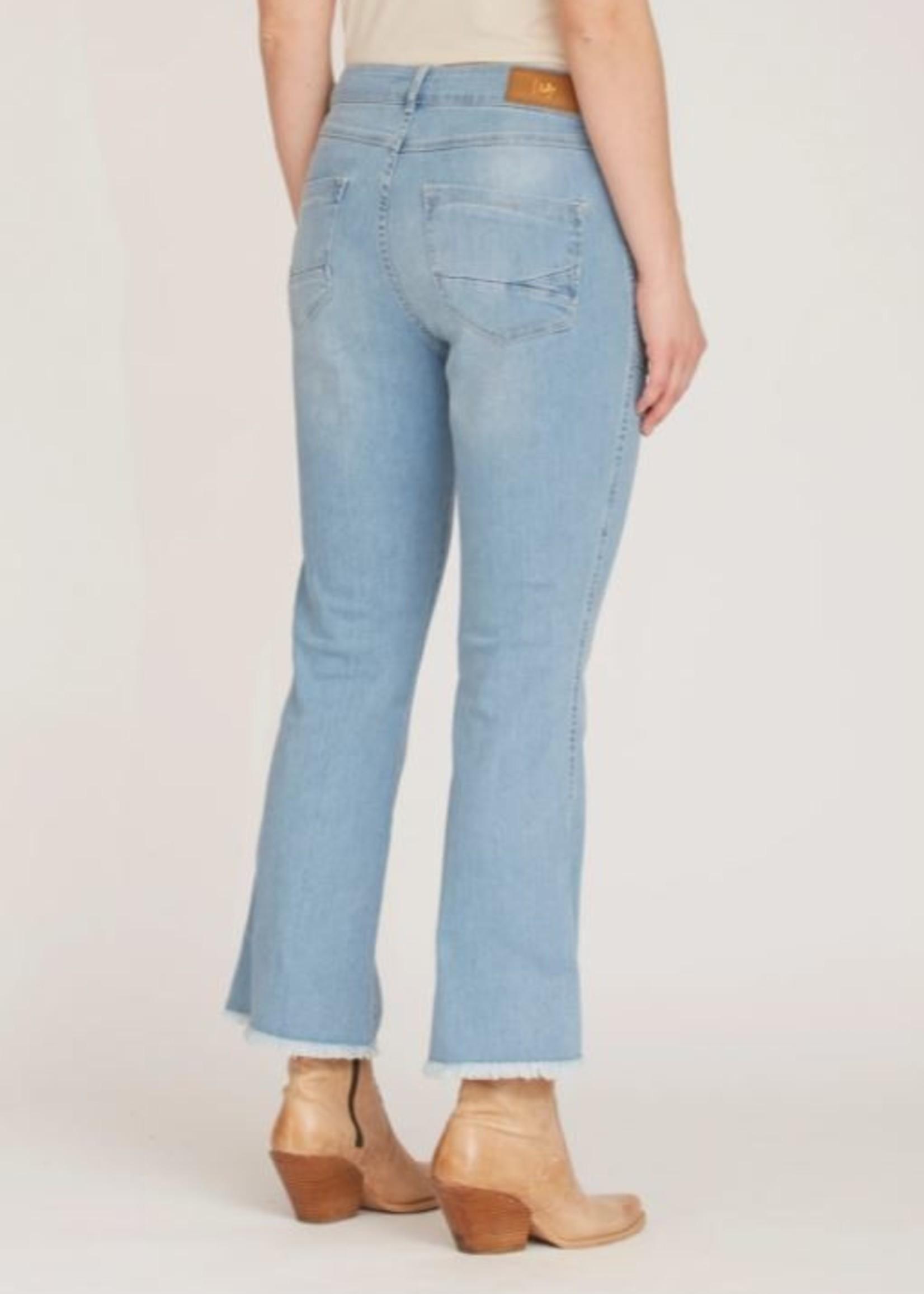 I Say Como Flare Jeans Light Blue Wash