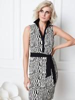 Kdesign Kleedje zwart/wit S404