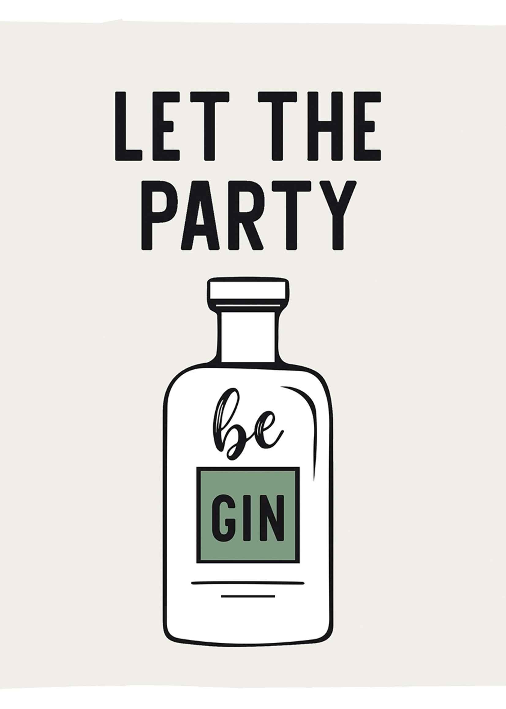 PPD Let the Party be Gin Napkin 33x33