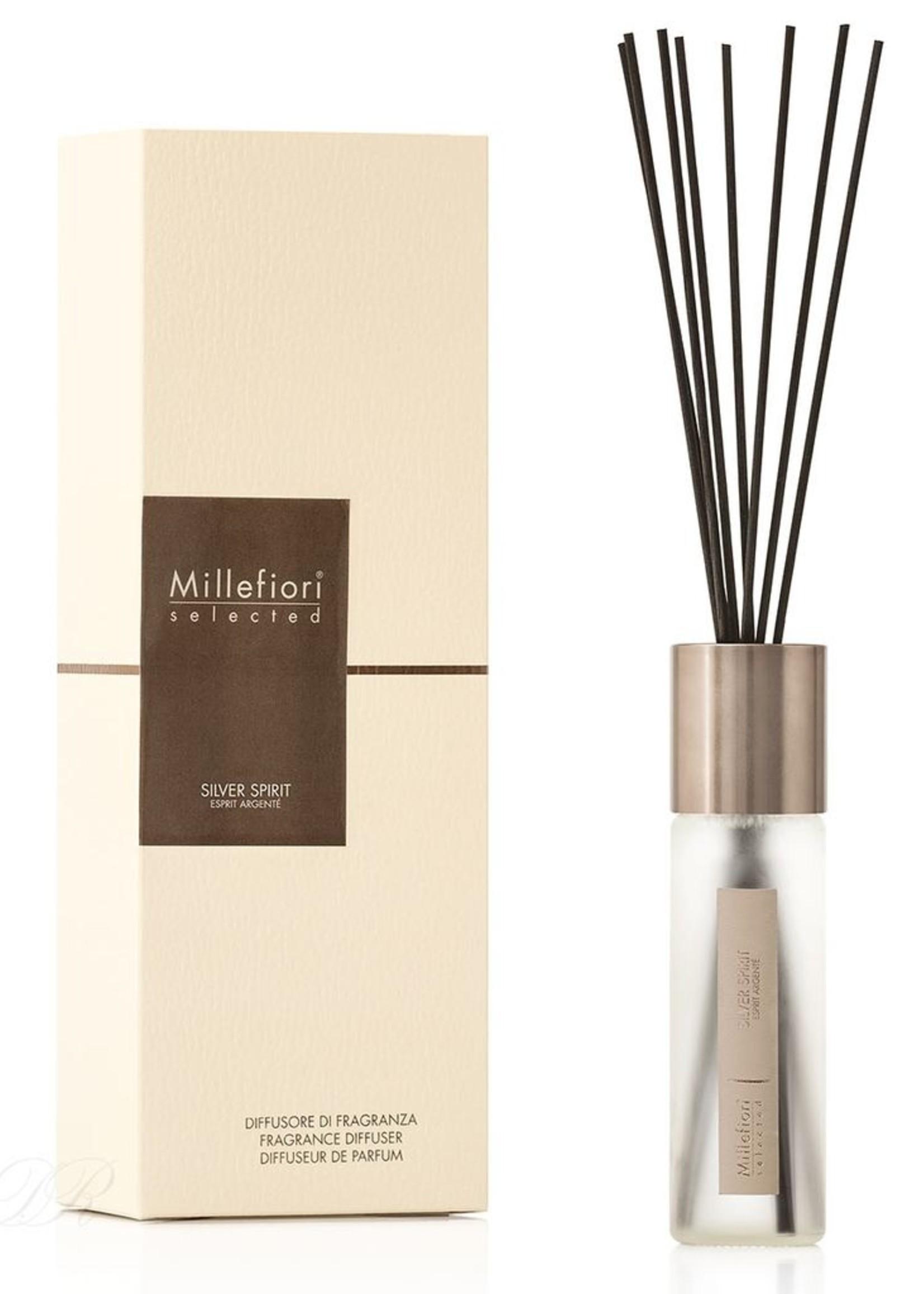 Millefiori selected diffuser 100 ml silver spirit