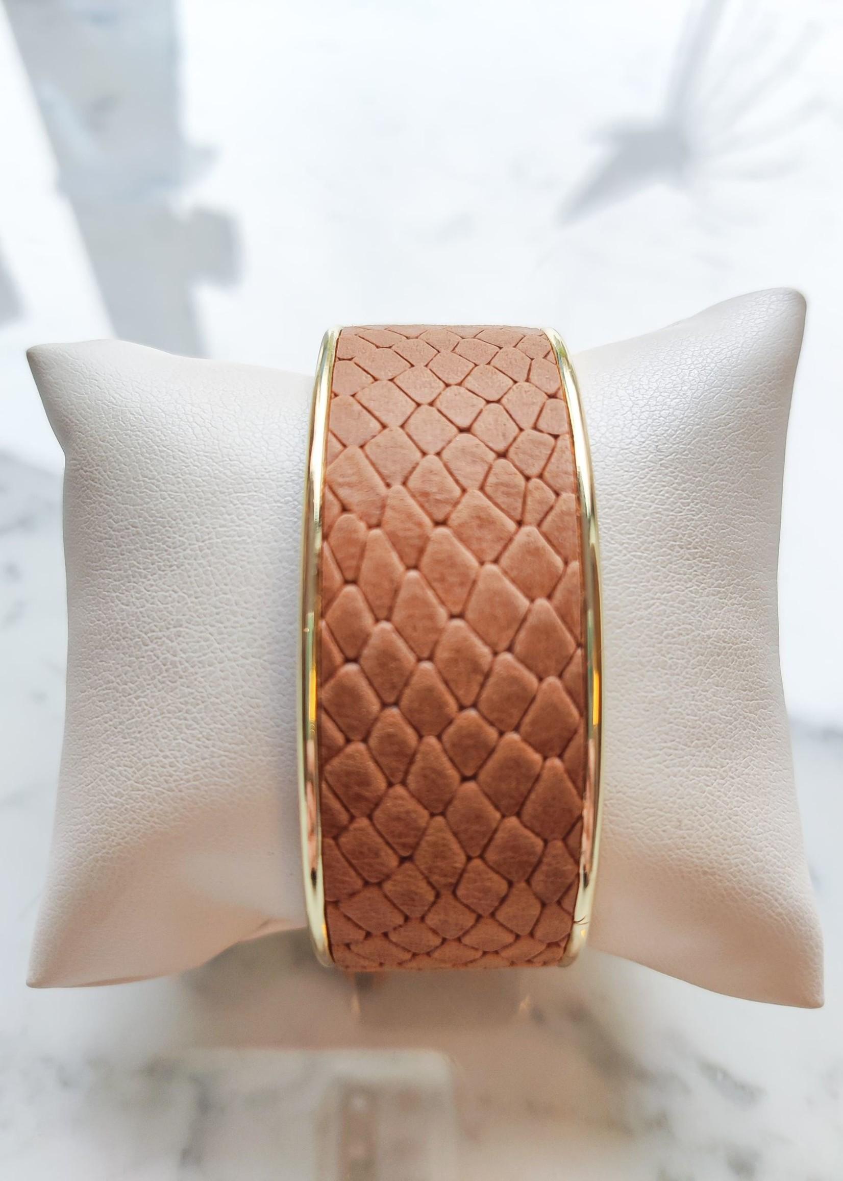Madanda Armband leder large bruin