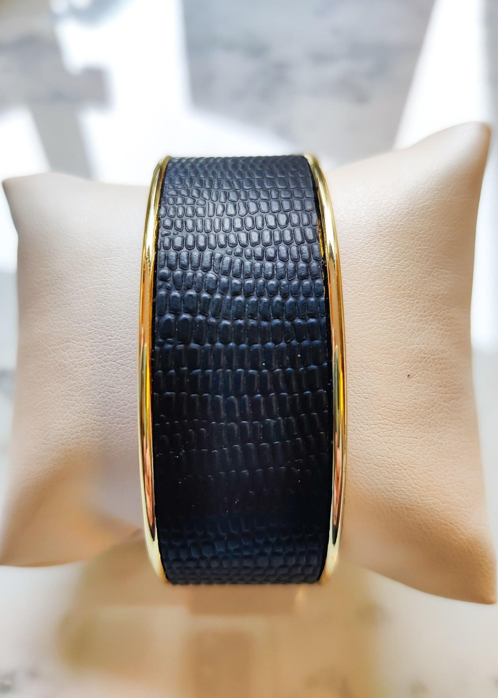 Madanda Armband leder large zwart