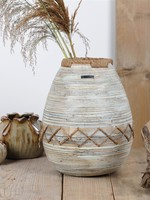 RASTELI Decovaas bamboo & jutte small