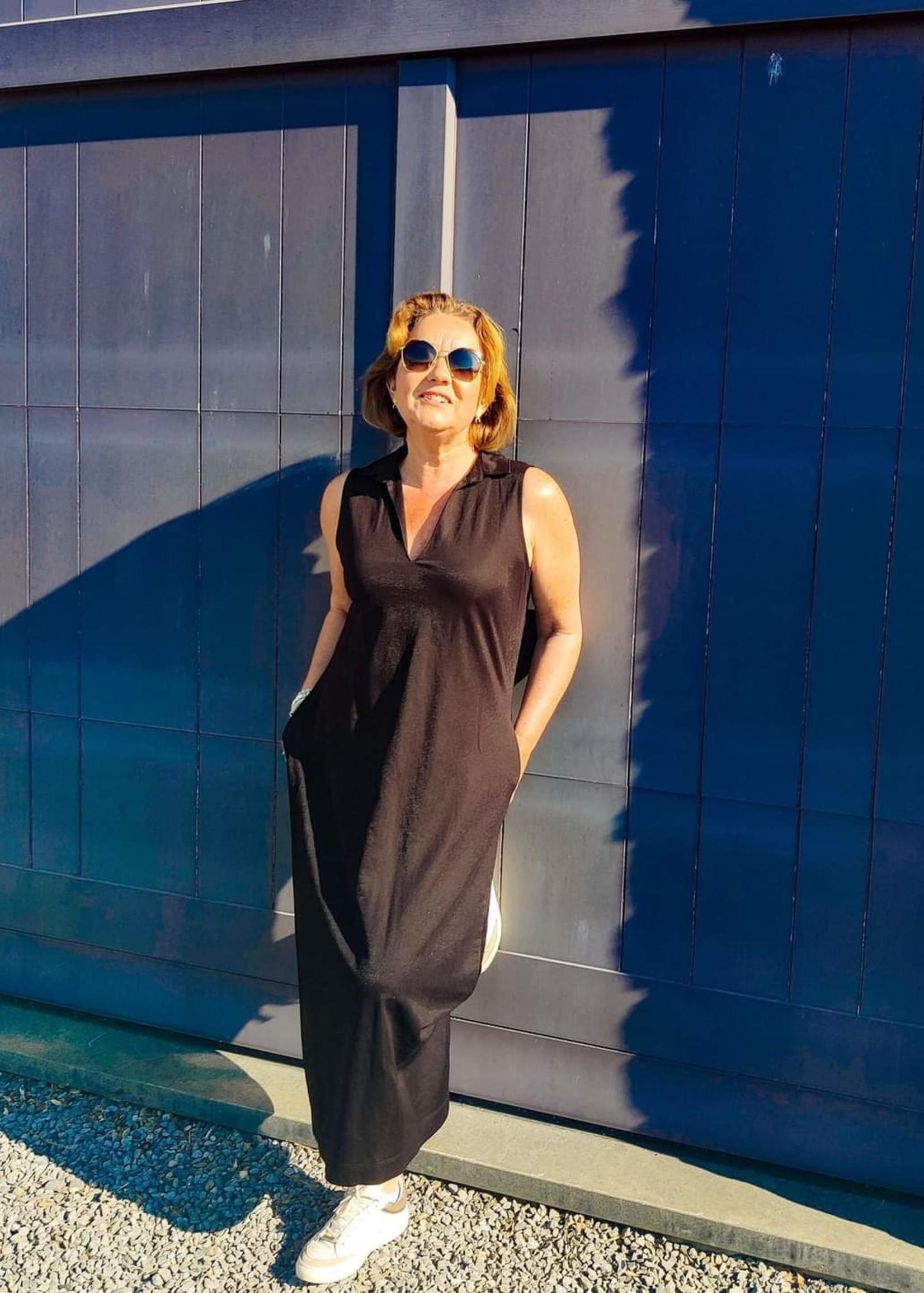 Agua Maxi dress Iba viscose black