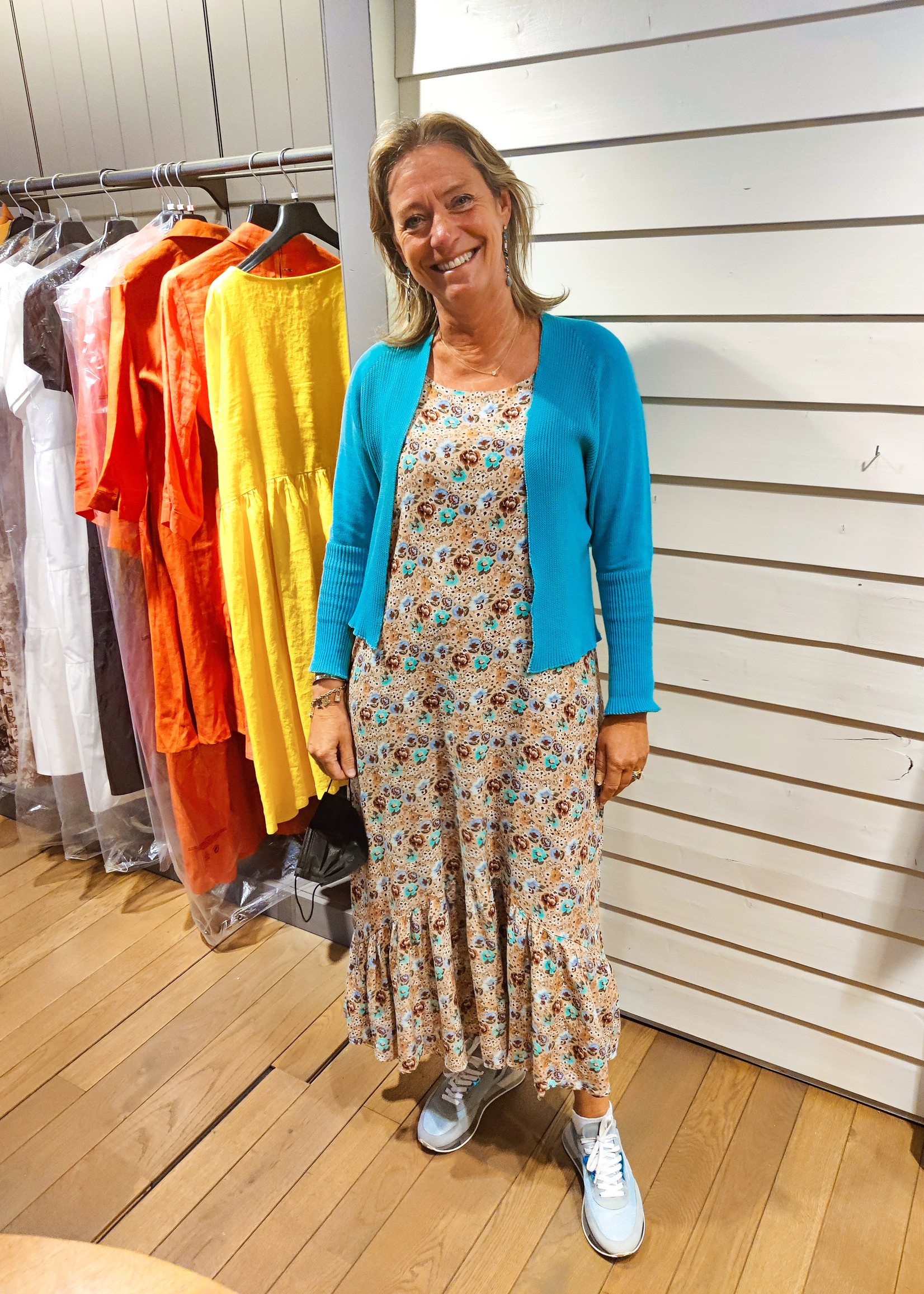 Agua Maxi dress Ekko Turquoise