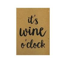 Postcard - It's wine o'clock