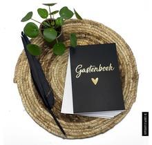 Gastenboek zwart/goud 50
