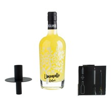 Limoncello in bag with candle holder
