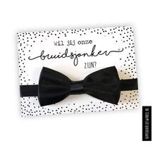 Card Bridal boy with bow tie