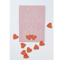 Send and Grow card - You make my heart go bloom bloom
