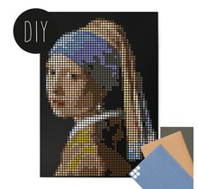DIY poster with distant homemade dots - Vermeer - 50x70 cm