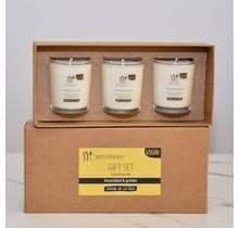 Gift set of scented candles Lime leaf & Ginger