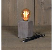 Table lamp wood 8x12cm / E27