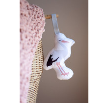 Soft Toy Ooievaar met rateltje en knisper - Soft babytoy