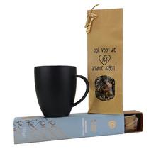 Tea set vtwonen cup black incl. Tea and Fudge Sea Salted Caramel