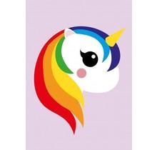 Card Unicorn Rainbow