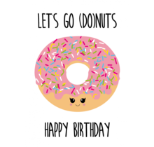 Card Let's Go Donuts