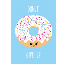 Kaart Donut Give Up