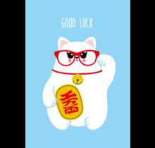 Card Good luck with Meneki Neko