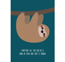 Card Hang In There Sloth