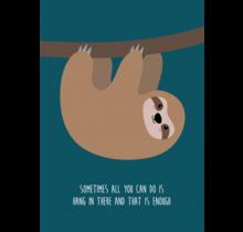 Kaart Hang in there Luipaard