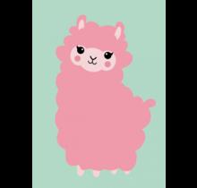 Kaart Alpaca Roze