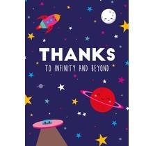 Kaart Thanks to Infinity
