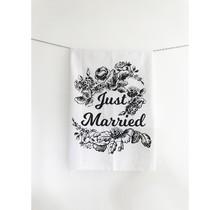 Just Married Tea Towel