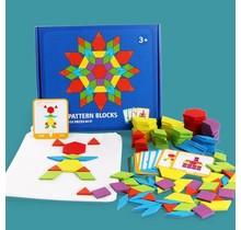 Houten educatieve puzzelbordset   155 stuks