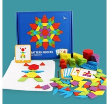 Wooden Educational Puzzle Board Set   155 pieces