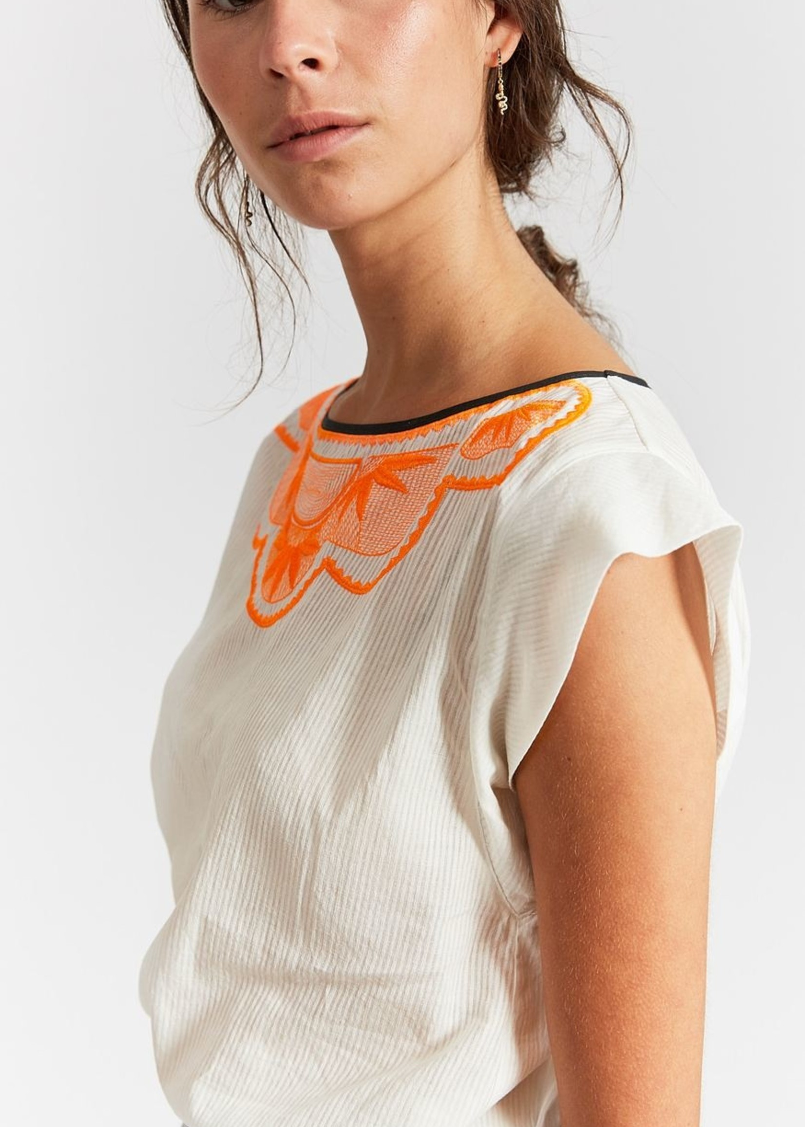 INDEE INDEE BLOUSE JOURNEY OFF WHITE