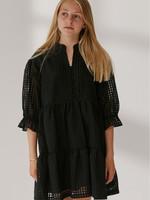 DESIGNERS REMIX JURK G MOLISE RUFFLE DRESS BLACK