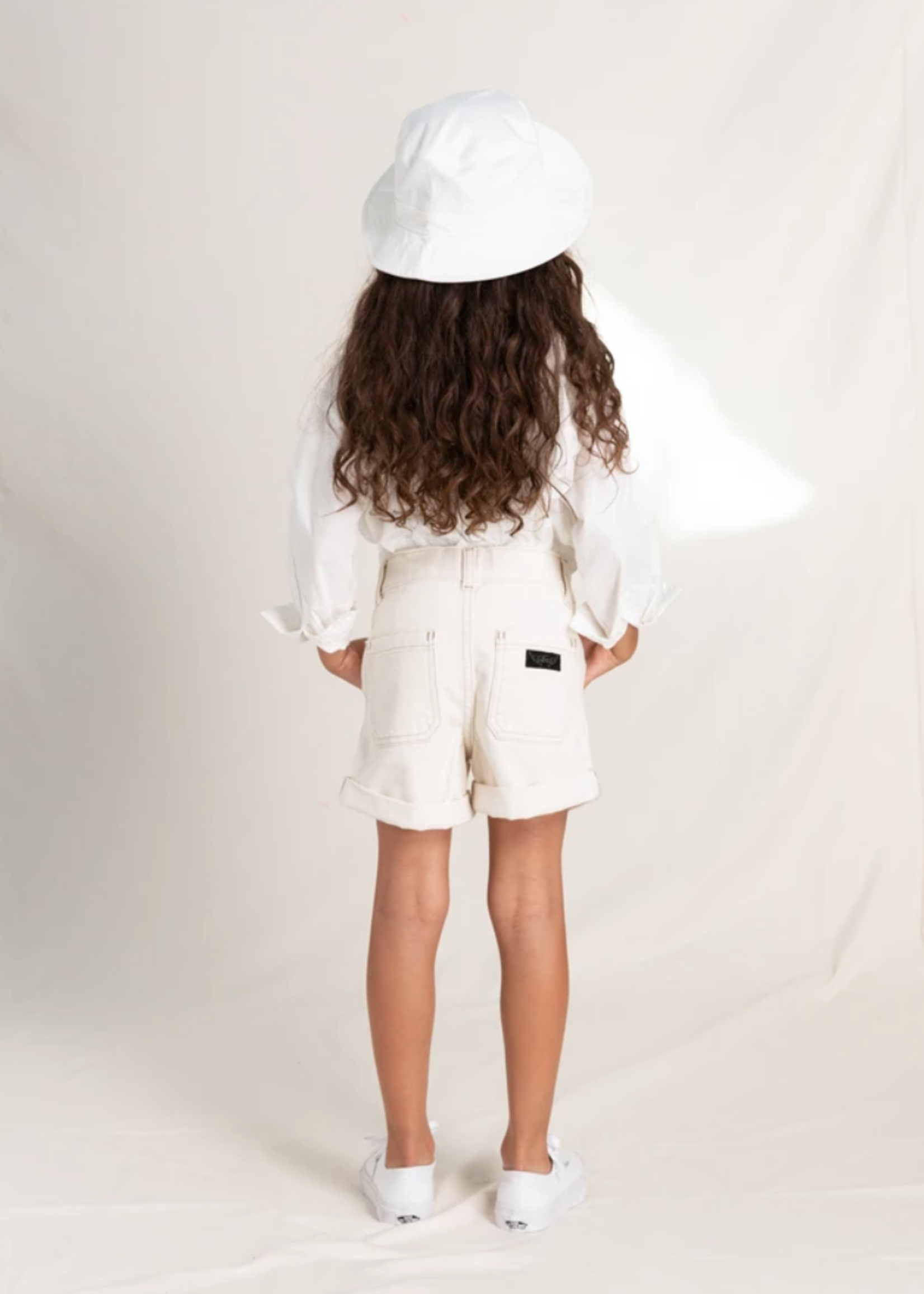 FINGER IN THE NOSE MARLIE Raw Ecru - Loose Fit Shorts