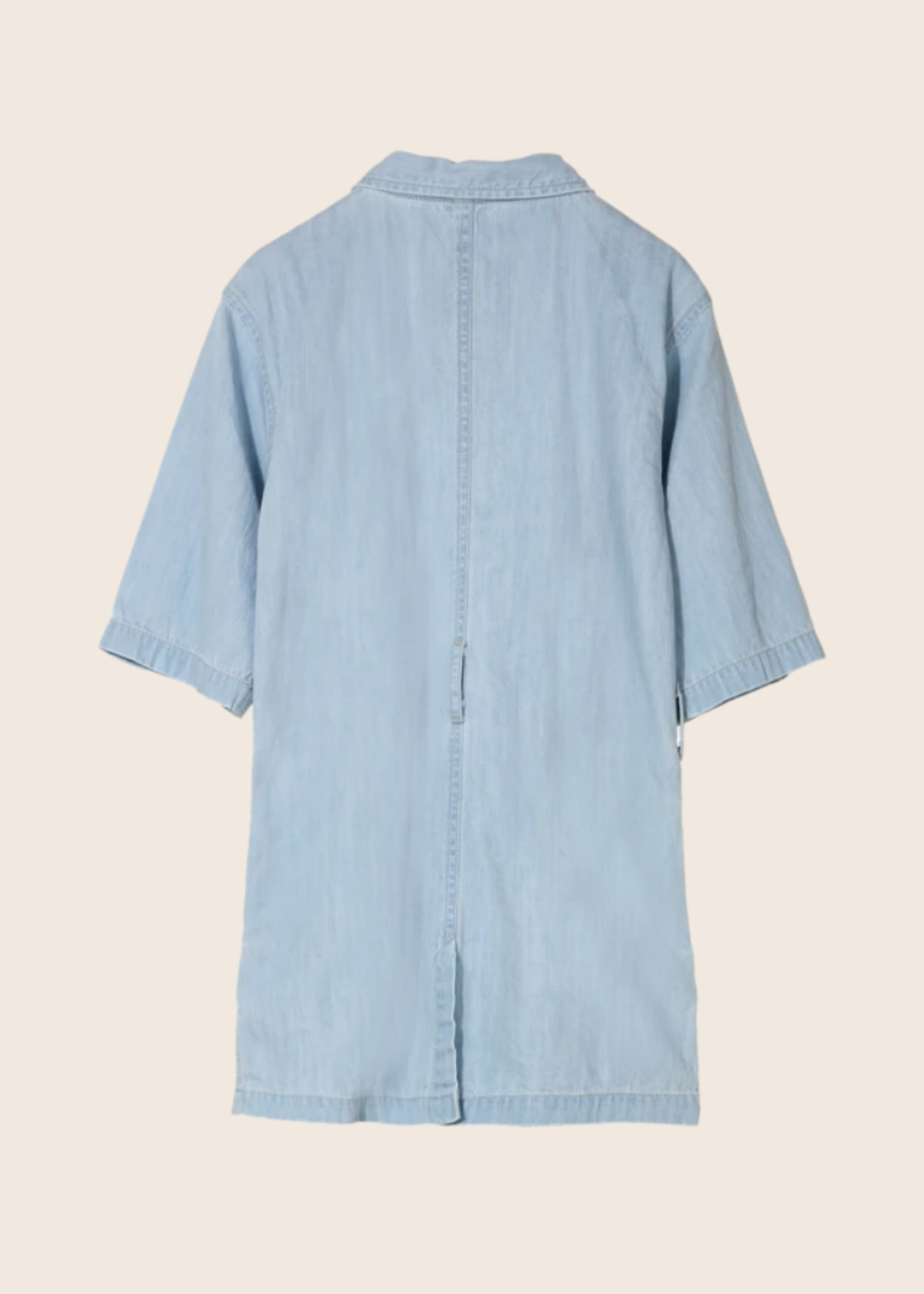 FINGER IN THE NOSE CRESTON Super Bleached Blue - Short Sleeve Dress