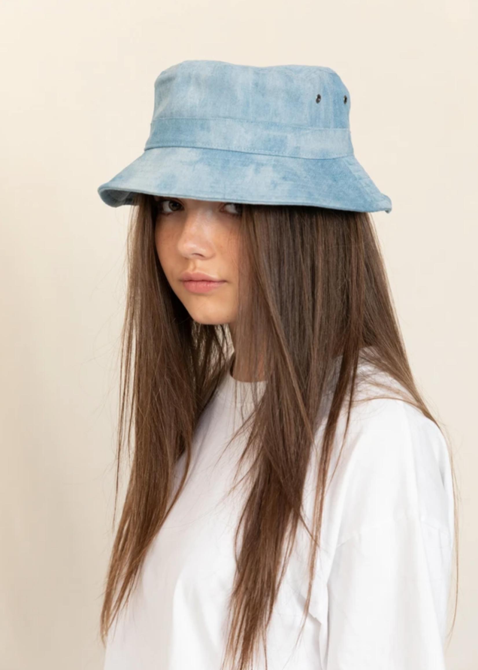 FINGER IN THE NOSE BUCK Blue Denim Tie & Dye - Bucket Hat