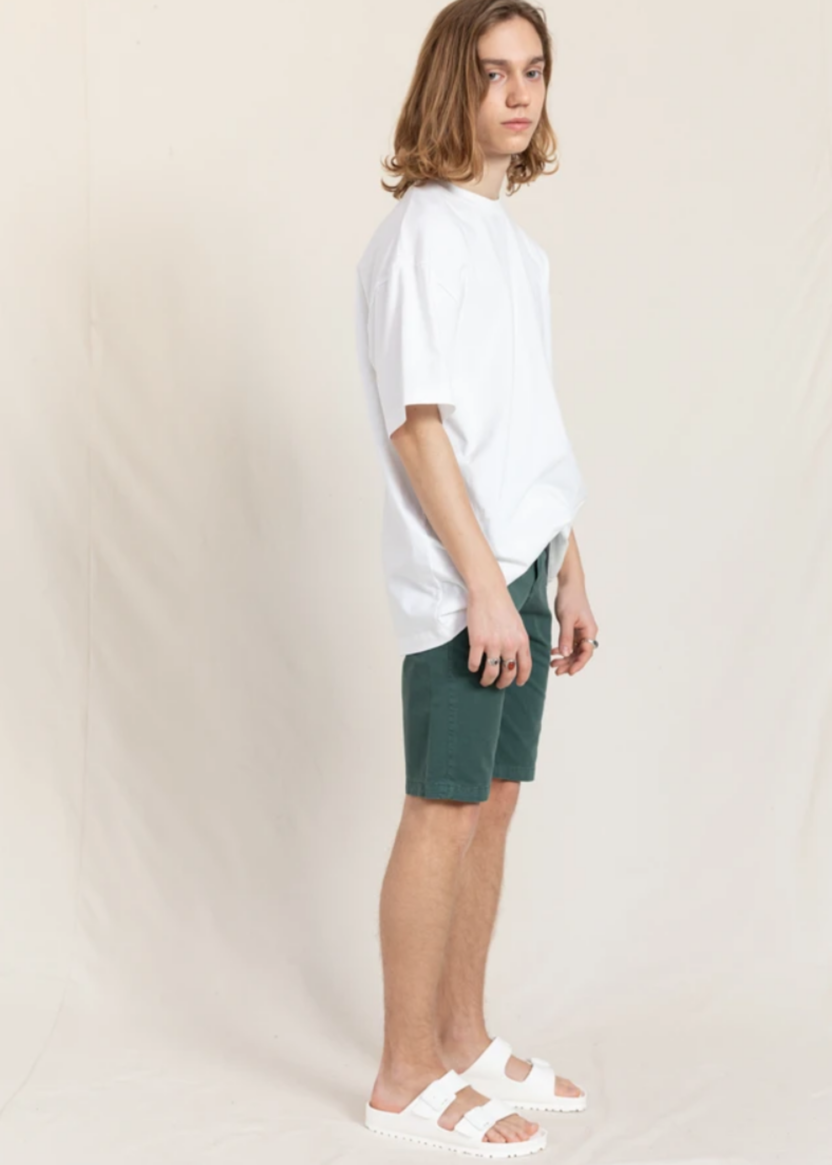 FINGER IN THE NOSE ALLEN Stone Blue - Chino Fit Bermuda Shorts
