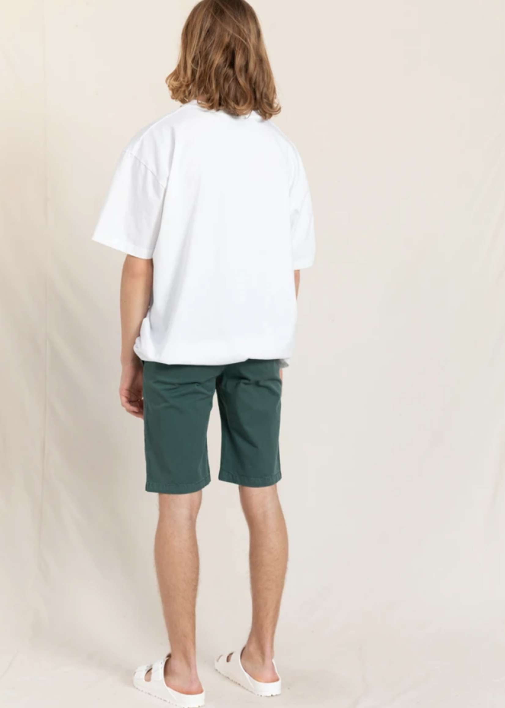 FINGER IN THE NOSE ALLEN Green Khaki - Chino Fit Bermuda Shorts