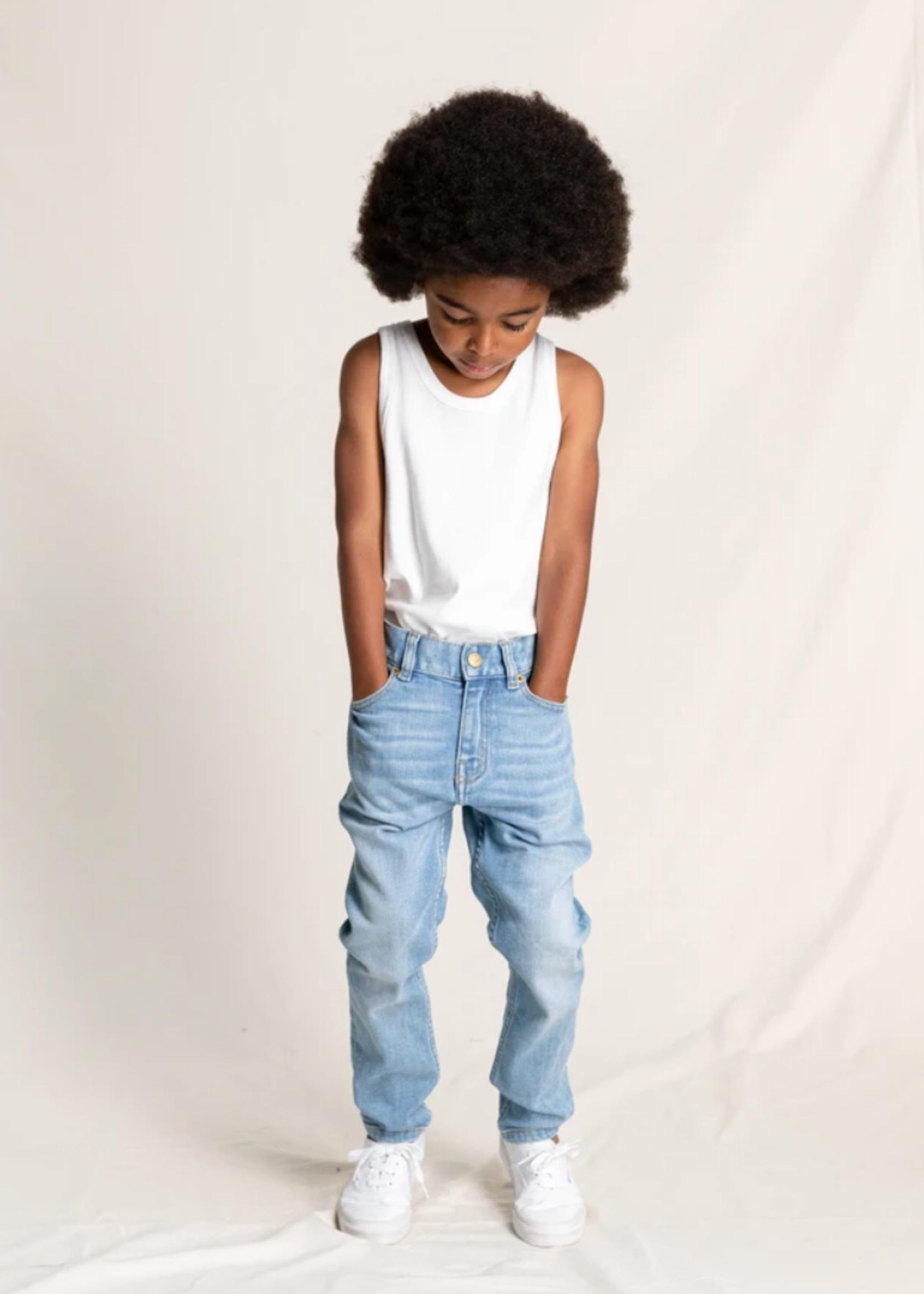 FINGER IN THE NOSE EWAN Light Blue Denim - 5 Pockets Comfort Fit Jeans