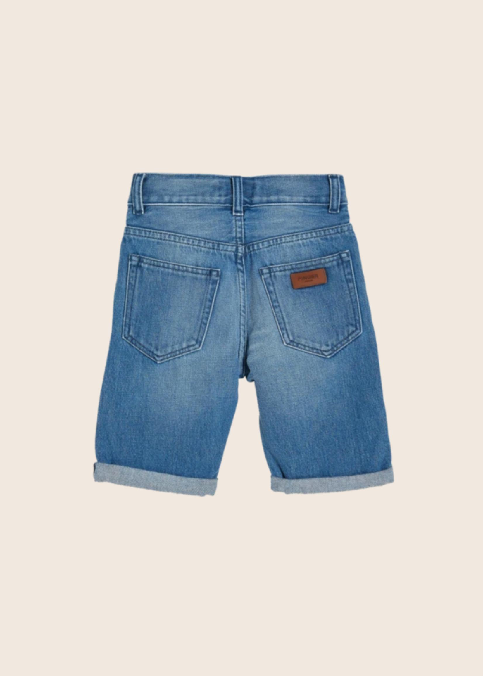 FINGER IN THE NOSE EDMOND Medium Blue - 5 Pockets Comfort Fit Jeans