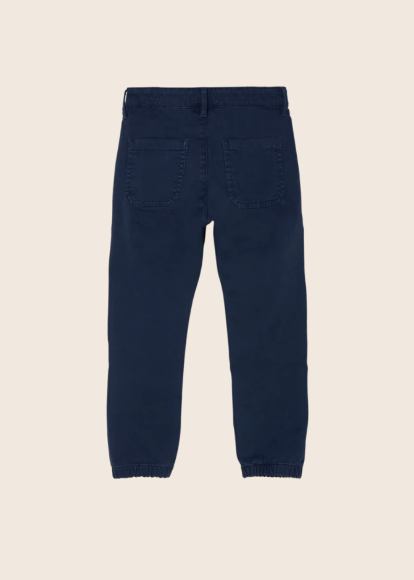 FINGER IN THE NOSE SKATER Navy - Elasticed Bottom Chino Fit Pants